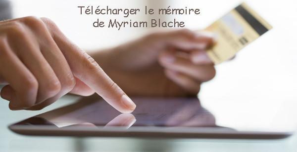 Payer et télécharger le mémoire de Myriam Blache
